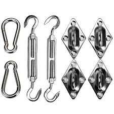 Rectangle Square <b>Shade Sail Hardware Kit</b>, Stainless Steel Sun ...