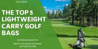 The 5 <b>Best Lightweight</b> Carry Golf Bags Compared & Reviewed For ...