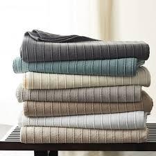 Egyptian <b>Cotton</b> Textured Striped Blanket
