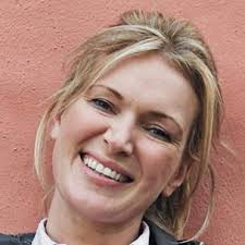 Rachel Allen was brought up in Dublin and her early cooking experiences were with her sister, as the pair made biscuits, each pretending to be Delia Smith. - rachel_allen_1x1