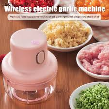 Wireless <b>Mini Electric Garlic</b> Food <b>Chopper</b> Ginger Vegetable ...
