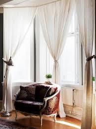 stunning curtain ideas bay windows