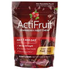 Enzymatic Therapy <b>Actifruit Cranberry Fruit Chew</b> 20 Chews ...