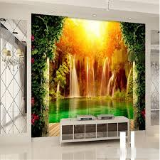 beibehang papel de parede nonwoven striped 3d wallpaper green cartoon cute boy girl princess personality bedroom room