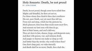 death be not proud poetry essay  death be not proud poetry essay