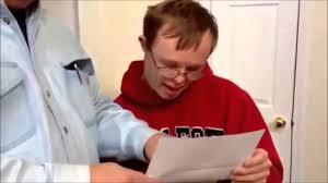 joyous boy w downs opens college acceptance letter joyous boy w downs opens college acceptance letter