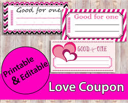 love coupon love coupon book printable coupons valentine valentine coupon good for one 128270zoom