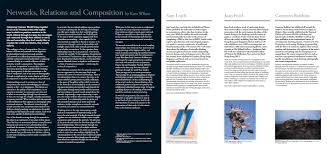 exhibition essays kent wilson networks relations and compositions composing common worlds 2014