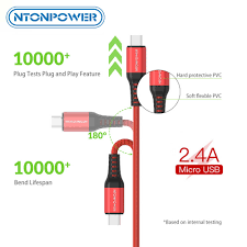 <b>NTONPOWER</b> Micro <b>USB Data</b> Sync Charger <b>Cable</b> Type C <b>Cable</b> ...