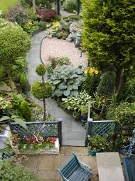 Small Picture Narrow garden design Curved pathways add interest to a long