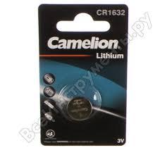 Литиевая <b>батарейка</b> 3V <b>Camelion CR1632</b> BL-1 5227 - цена ...