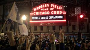 Image result for wrigley field celebrates cub win