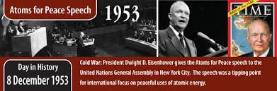 「Atoms for Peace by Dwight David Eisenhower」の画像検索結果