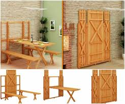 the most amazing space saving picnic table amazing space saving furniture