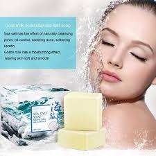 <b>100g sea salt soap</b> cleaner pore grains removal acne treatment ...