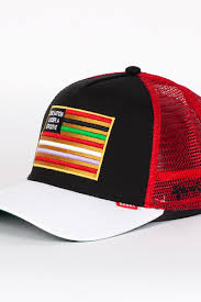 <b>Бейсболка DJINNS</b> One Nation High Fitted T.cap (Black-White-Red ...