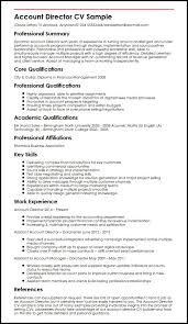 account director cv sample   curriculum vitae builderaccount director cv sample