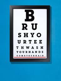able diy bathroom eye chart diy bathroom eye chart poster