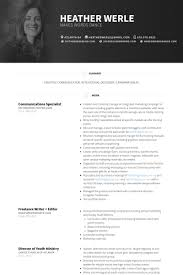 communications specialist resume samples central head corporate communication resume