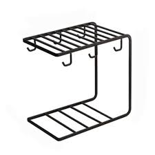 <b>6 Hooks</b>, Metal Coffee Cup <b>Rack</b> Stand Kitchen <b>Storage Rack</b> ...