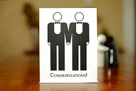 two grooms gay marriage congratulations card on % recycled 128270zoom