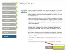 apply for job submit application select accept submit on the digital signature screen