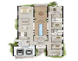 Stunning Cottage Design In Country Side    Modern Narrow Block House Designs Floor Plan Four Bedrooms