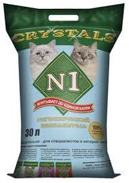 <b>Впитывающий наполнитель N1 Crystals</b> 30 л — купить по ...