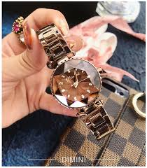 2019 <b>Luxury</b> Brown <b>Ladies Crystal</b> Watch <b>Women</b> Dress Watches ...