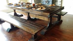 long wood dining table: solid long real wood dining table with benches