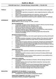 manager resume sample   example good resume templatemanager resume sample