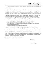 senior executive assistant cover letter sample job and resume senior executive assistant cover letter