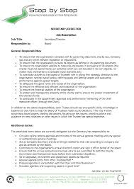job secretary job description for resume template of secretary job description for resume