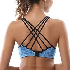 CharmLeaks Womens Strappy Sports Bra Supportive ... - Amazon.com