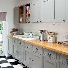 kitchen worktops ideas worktop full: grey shaker style kitchen with wooden worktop kitchen decorating ideal home housetohome