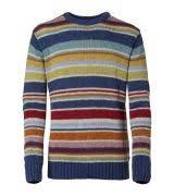<b>Gant</b> Linen/Cotton Multistripe Crew | мода | Мода и Полоски
