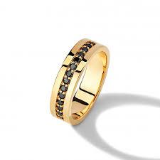 Обручальное <b>кольцо с черными</b> бриллиантами