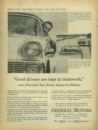 good drivers are tops in teamwork chevrolet gm ad