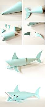 best ideas about shark week crafts shark craft shark paper tube craft cute ocean and recycled craft for kids