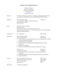 chronological resume sample experience resumes chronological resume sample for keyword