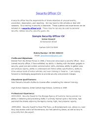 resume templates security guard resume police officer resumes security officer resume samples securityofficerresume security objectives for resume