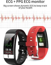 <b>Fitness Tracker</b> Bracelet <b>E66</b> Smart Band PPG ECG Body ...