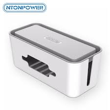 <b>NTONPOWER Hard Plastic Power</b> Strip Storage Box Cable Winder ...