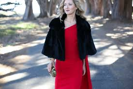 what to wear to your work holiday party memorandum formal holiday party dress red formal gown and accessories fur cape and red gown