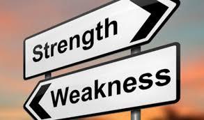 weaknesses versus strengths   weaknesses versus strengths
