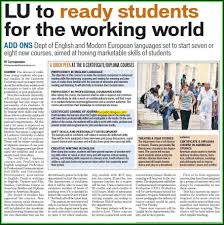 lucknow university lucknow uttar pradesh lu to ready students for working world