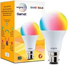Buy Wipro <b>WiFi</b> Enabled <b>Smart LED Bulb</b> B22 9-Watt (16 Million ...
