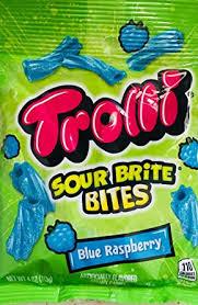 Trolli Sour Brite Bites Chewy Candy, Blue Raspberry ... - Amazon.com
