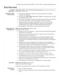resume examples resume for police officer no experience resume examples law enforcement objective resume for police officer no experience resume