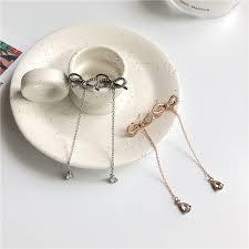 Buy 3 Get 1 <b>S925 silver needle</b> Korean <b>temperament</b> sweet bow ...